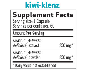 Kiwi-Klenz Supplement Facts